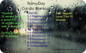 Rainy Day Cardio Workout