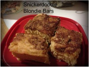 Snickerdoodle Blondie Bars