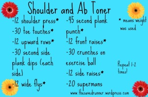Big shoulder and ab toner