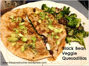 Black Bean Veggie Quesadillas